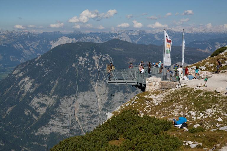 Vistas desde los Five Fingers en Austria