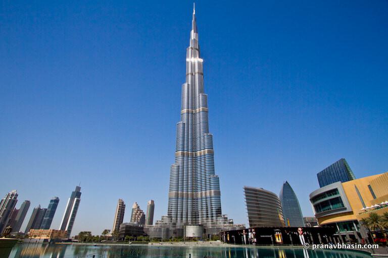 El edificio de Burj Khalifa en Dubai