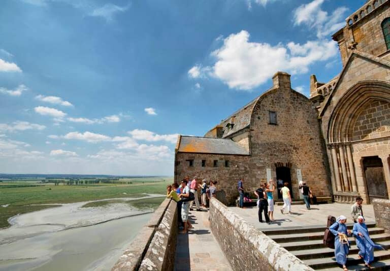 Vistas desde la Abadía de Mont Saint Michel