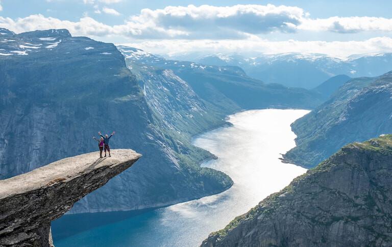 Vistas de Trolltunga, en Noruega