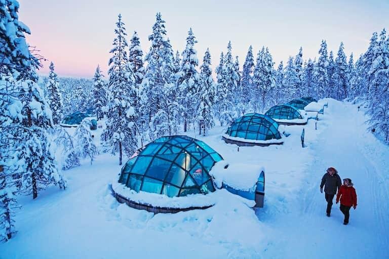 Iglús de cristal en Laponia