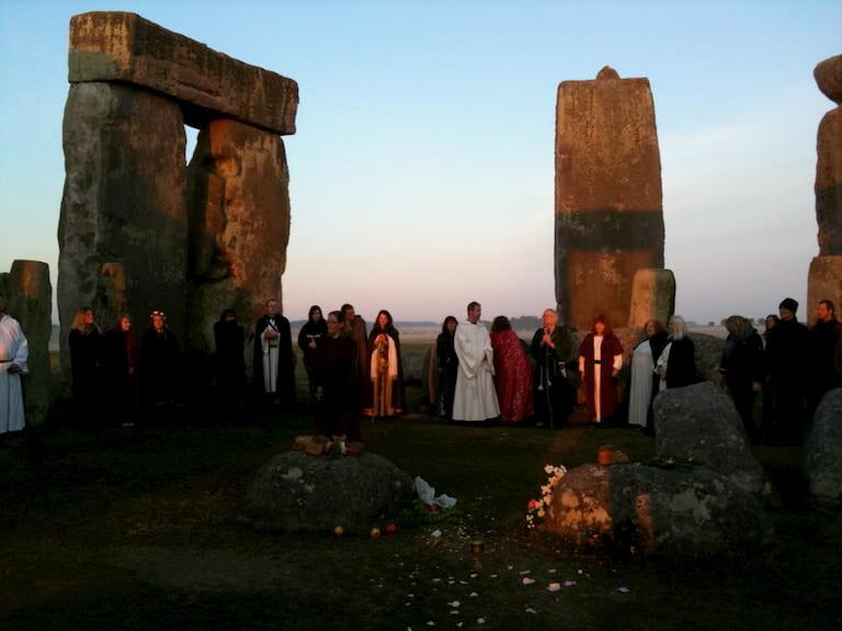 Celebración de San Juan en Stonehenge