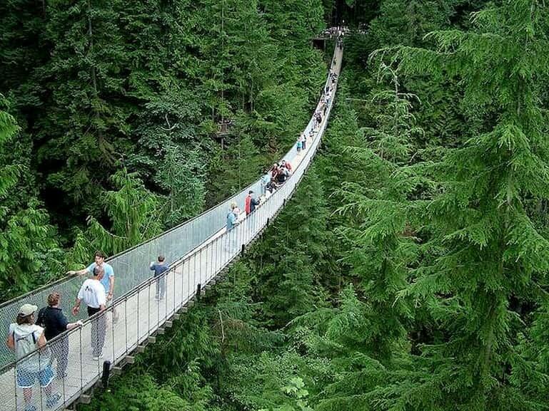 Capilano Suspention Bridge Park en Canadá