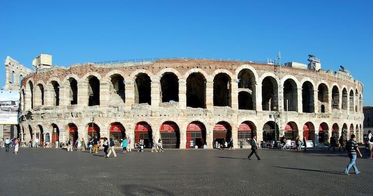 El anfiteatro romano de la Arena de Verona
