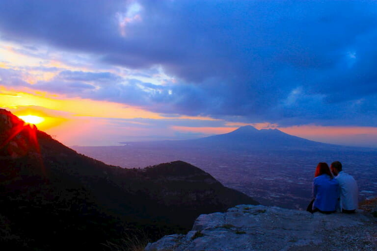 Atardecer en el volcán Vesubio