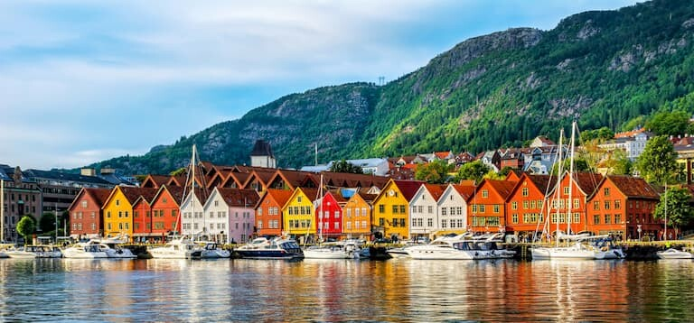 Las casitas de colores del barrio Bryggen de Bergen