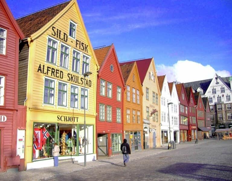 La ciudad de Bergen con sus casas de colores