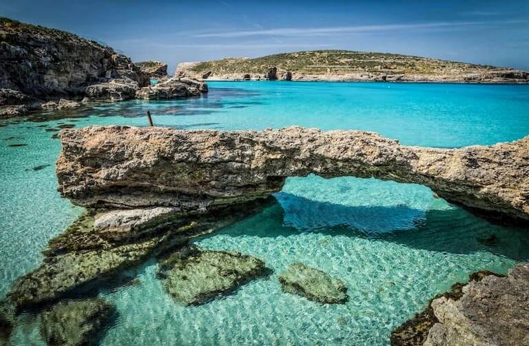 Blue Lagoon, la playa más conocida de Comino