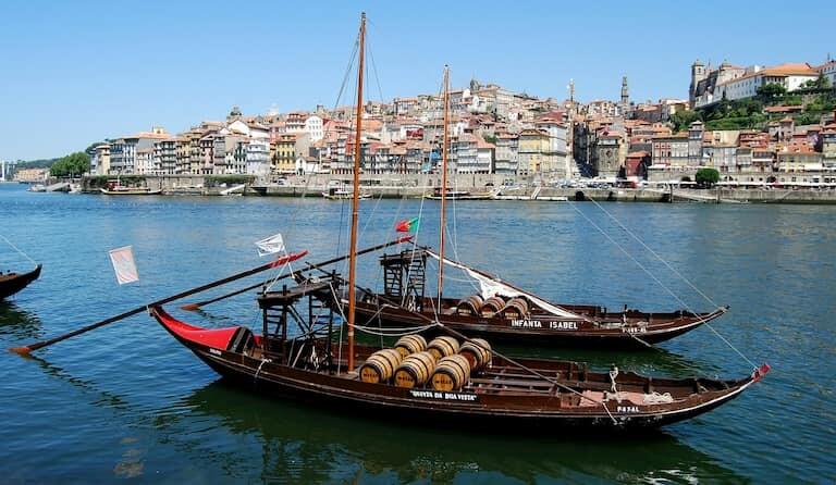 Vistas de Oporto desde Vilanova de Gaia