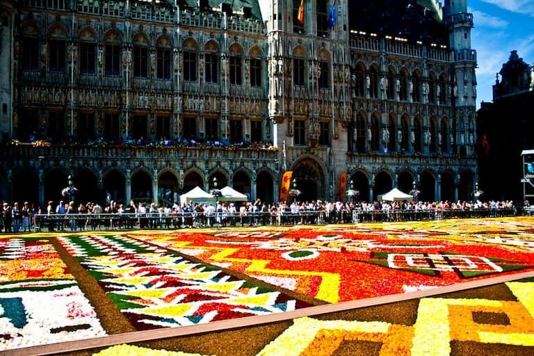 Alfombras de flores en Bruselas.