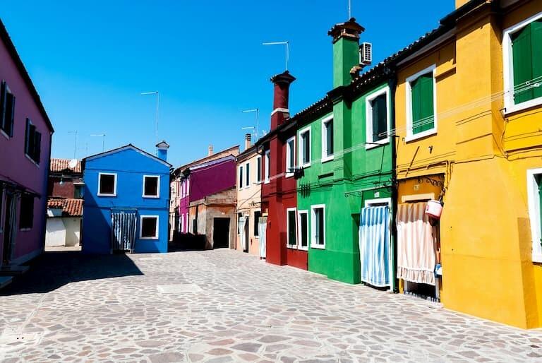 Casitas de colores de Burano.