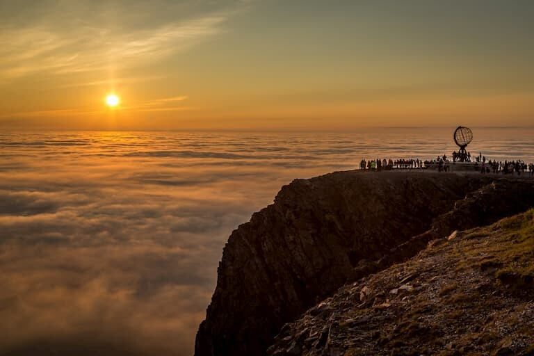 Sol de Medianoche en el Cabo Norte