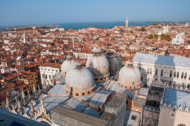 Asombrosas vistas desde el Campanile de San Marco