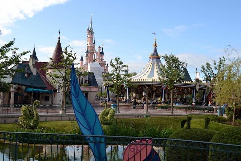El bonito carrusel de Fantasyland.