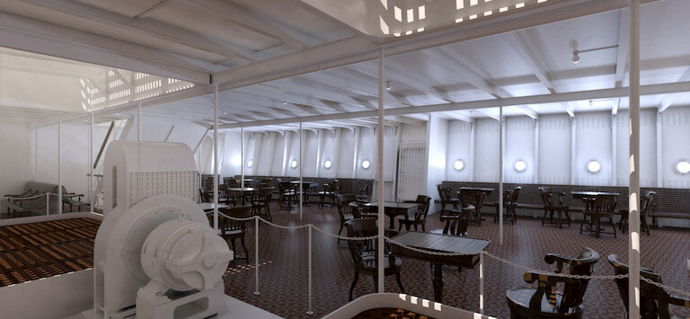 Comedor del Titanic.