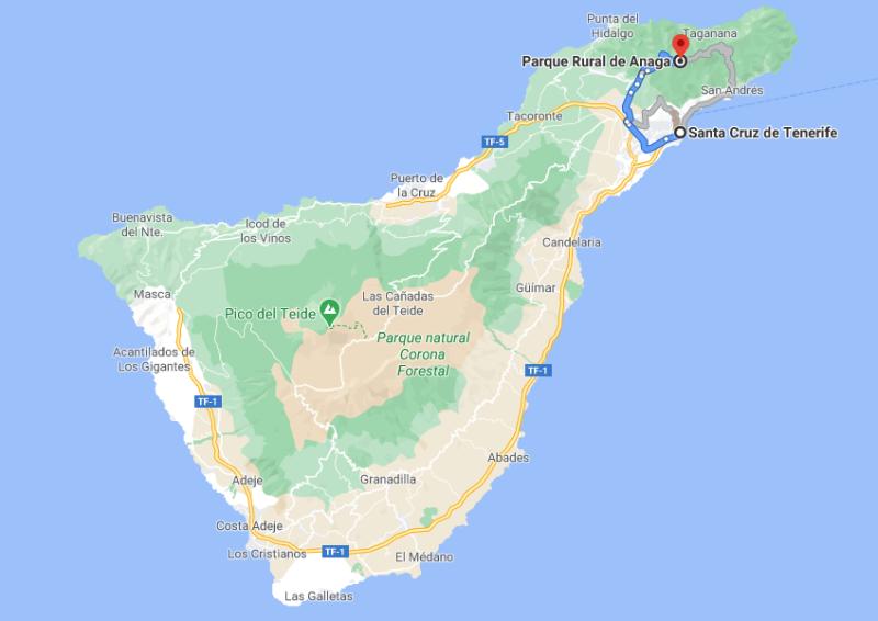 ¿Cómo llegar al Parque Rural de Anaga?