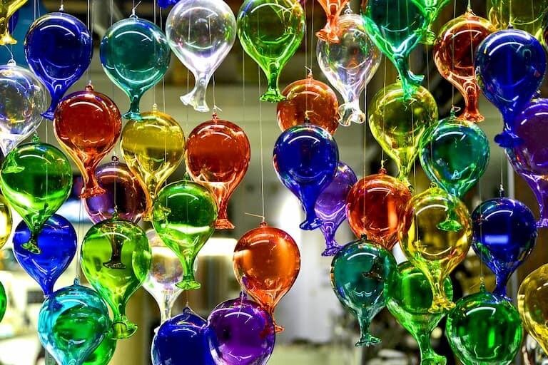Colorido cristal de Murano