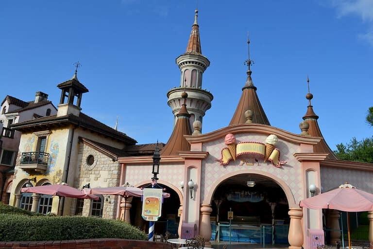 La heladería Fantasia Gelati en Disneyland.