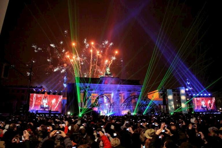 Fuegos artificiales en Berlín durante Fin de Año