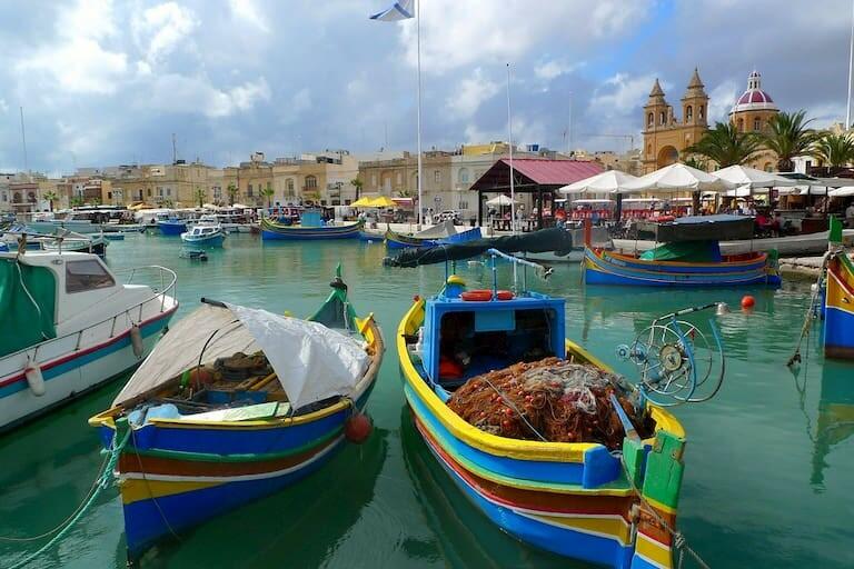 El pueblo de pescadores de Marsaxlokk