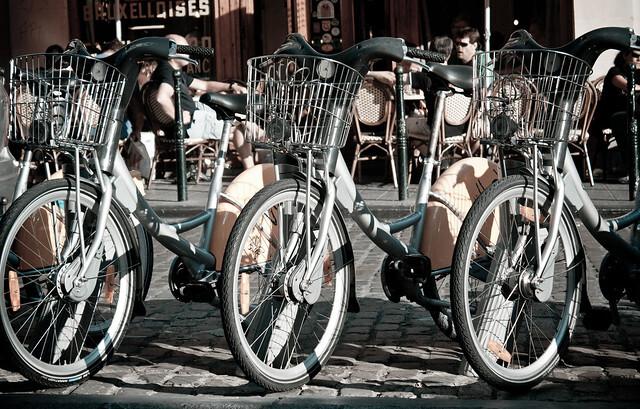 Las bicicletas en Flandes.