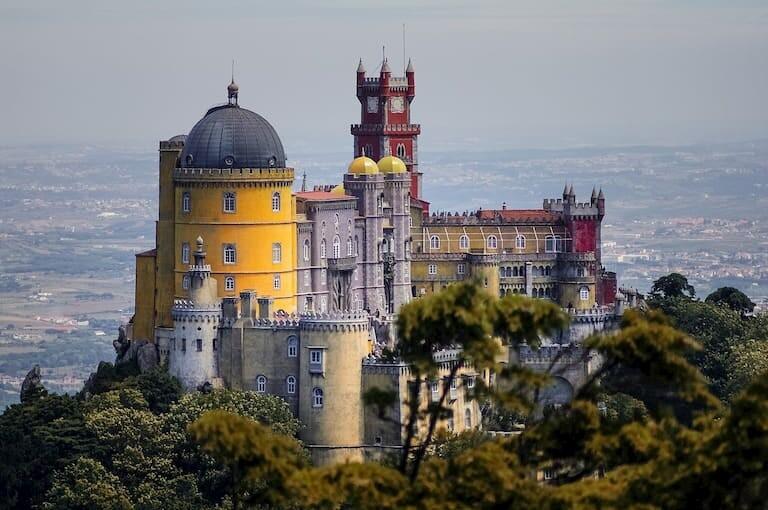 El Palacio de la Pena en Sintra