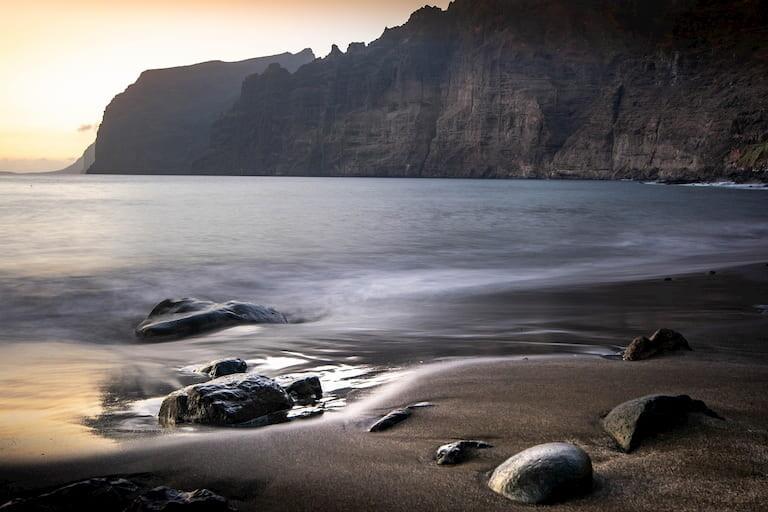 La playa de los Guíos en los Gigantes.
