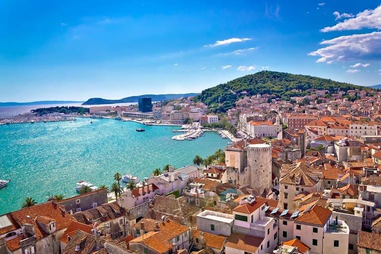 Vistas de la ciudad de Split