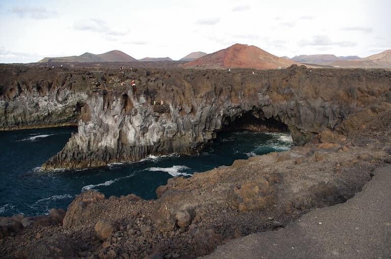 Los paisajes de Los Hervideros.