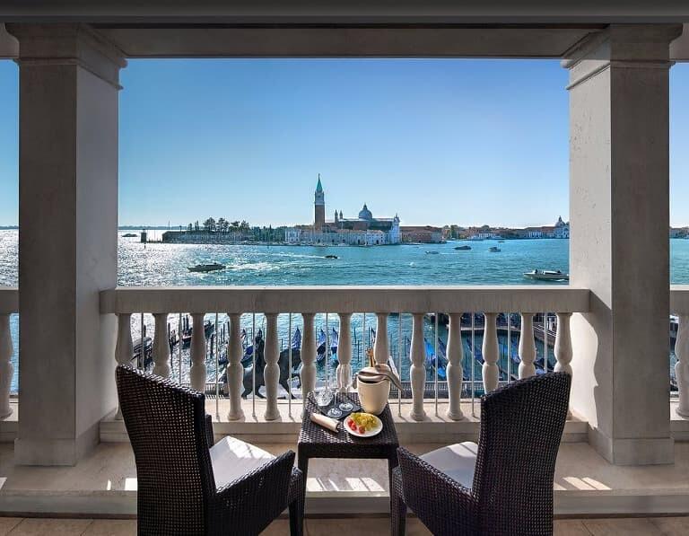 Vistas desde una terraza del hotel.