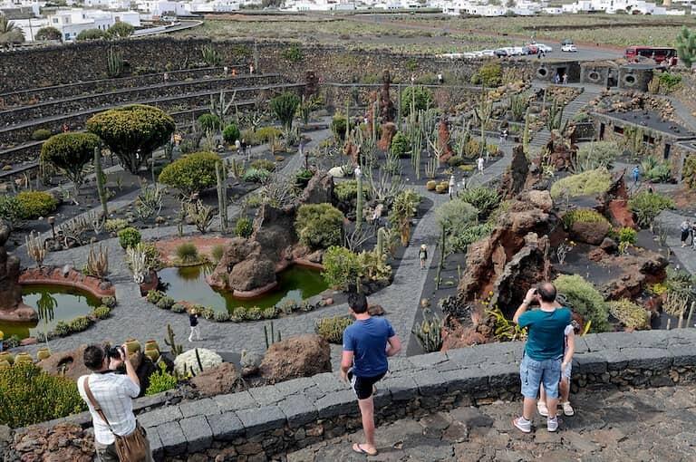 Panorámica del Jardín de Cactus de Lanzarote.