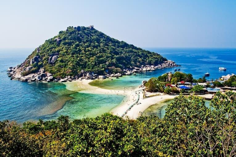 Las islas de Ko Nang Yuan en Koh Tao
