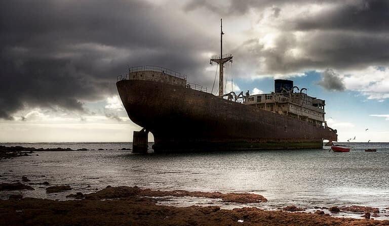El barco fantasma de Lanzarote.