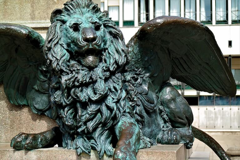 León alado en Venecia