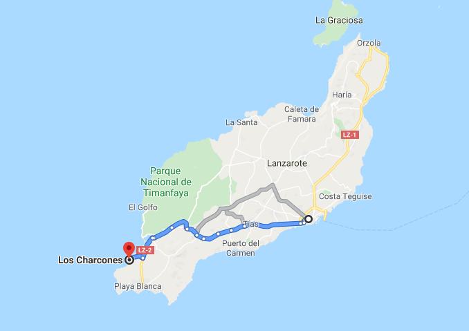 ¿Cómo llegar a los Charcones de Janubio?