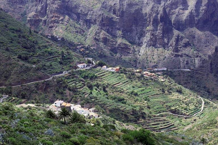 El caserío de Masca en Tenerife.