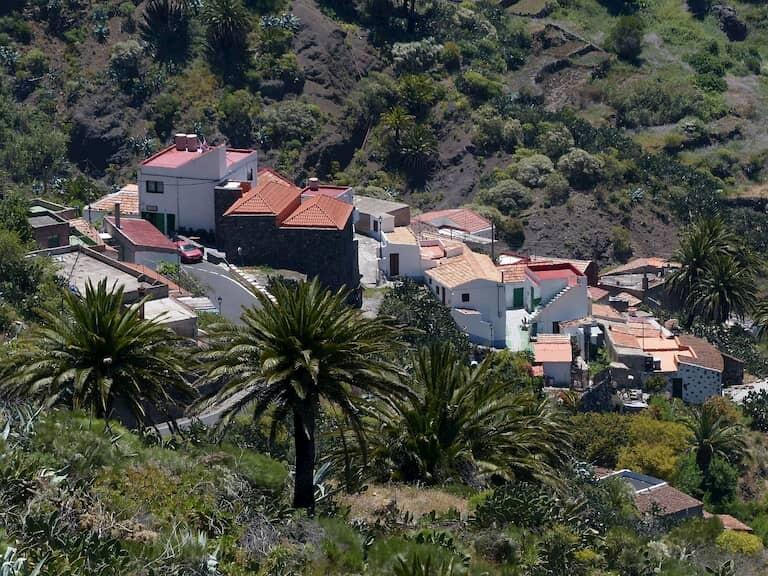 Las casas del bonito pueblo de Masca.