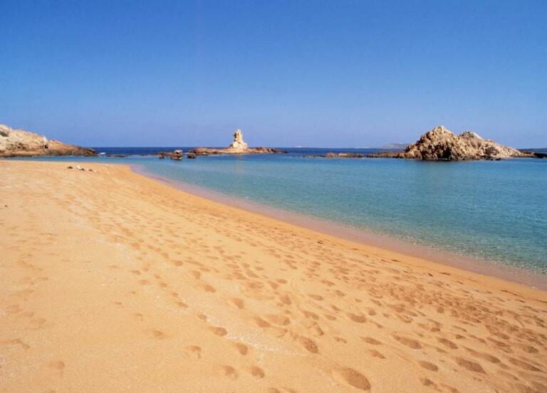 Una de las playas del norte de Menorca