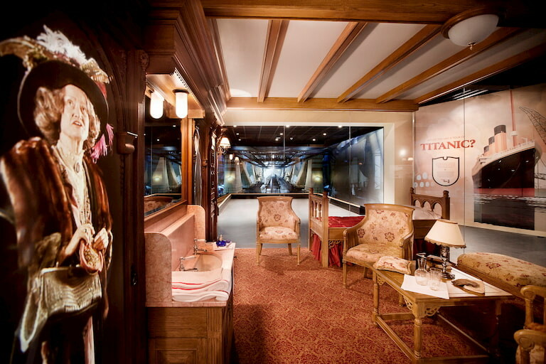 Muebles y decoración del Titanic