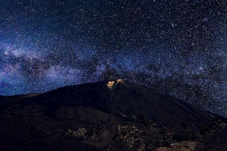 La noche estrellada en el Teide.