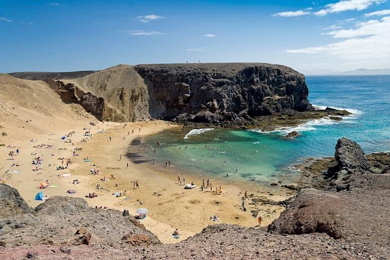Playa del Papagayo, de las mejores en Lanzarote.