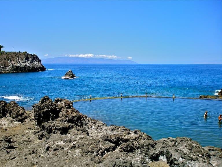 Piscina natural de los Gugantes o Charco de la isla Cangrejo.