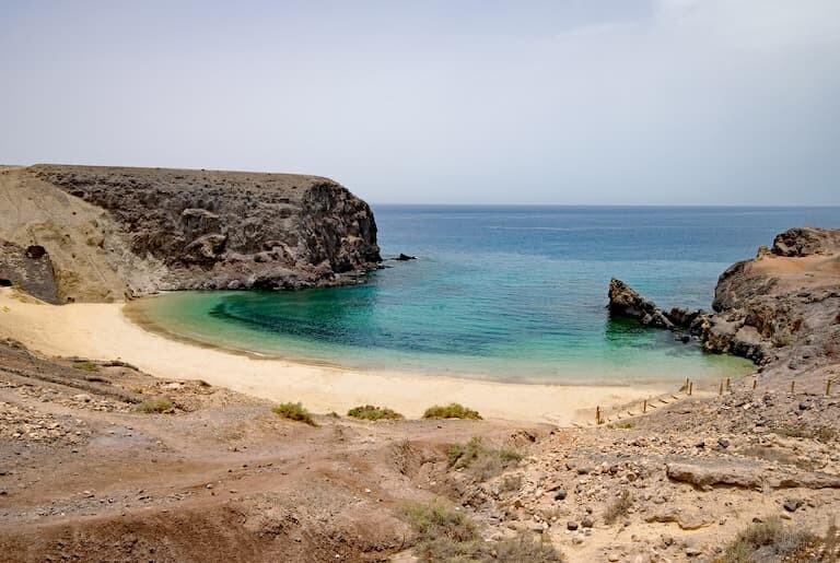 Playa del Papagayo en Lanzarote.