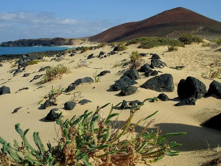 Playa de las Conchas en la Graciosa.