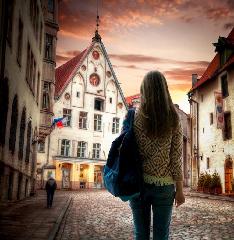 Calles del Casco antiguo de Tallin