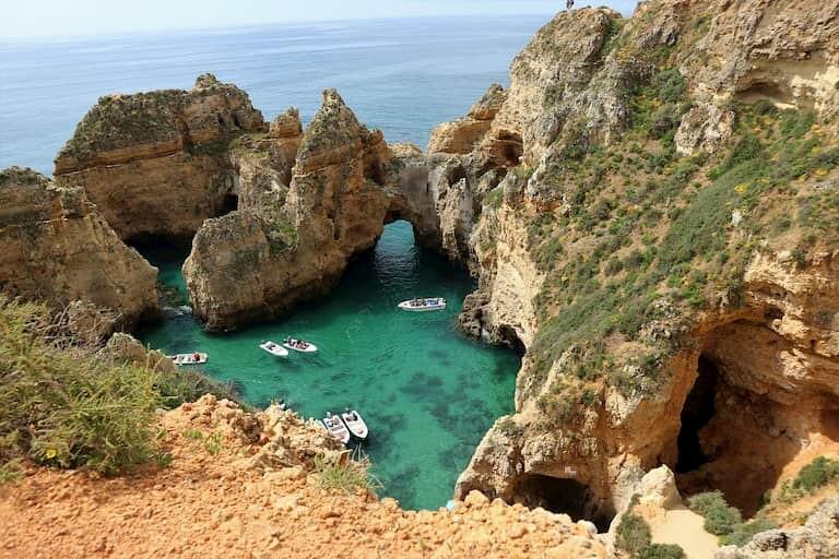Piscina natural en el Algarve
