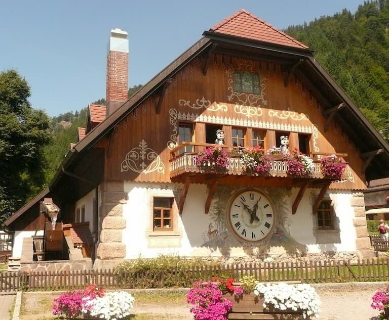 reloj de cuco en el Desfiladero de Ravena
