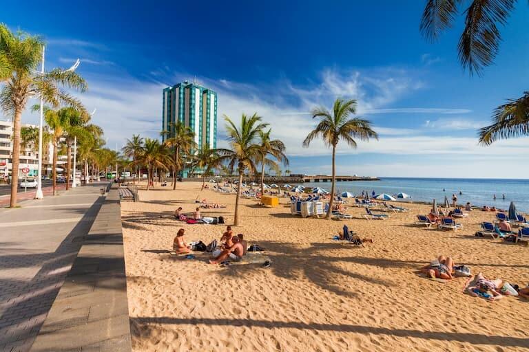 La Playa del Reducto en Arrecife.