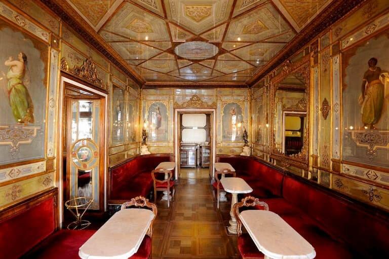 La Sala Oriental del Café Florian en Venecia