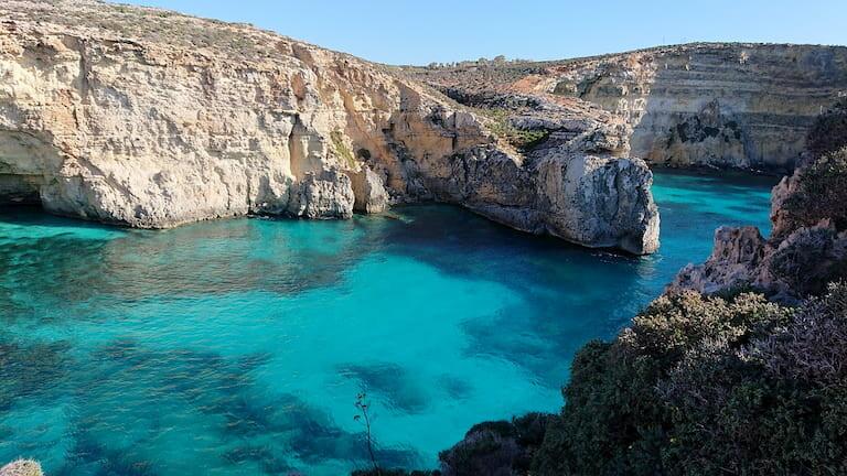 Las aguas azules de las islas de Malta